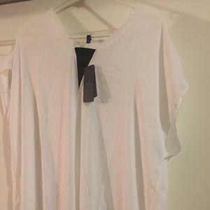 NYDJ Short Sleeve White Blouse